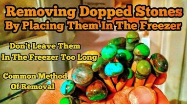 Removing Dopping Stones By Placing Them In A Freezer