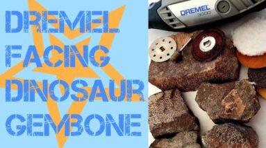 How to Window and Face Polish Dinosaur Gembone With a Dremel (Rotary Tool), Rock Polishing