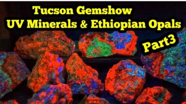 2021 Tucson Gem show.   UV Minerals & Ethiopian Opals Part3