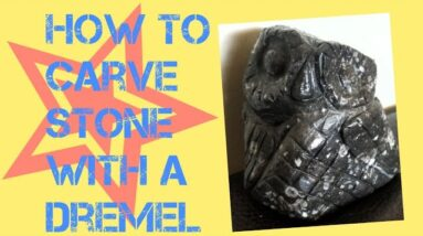 How To Carve A Stone Owl With A Dremel (Rotary Tool)