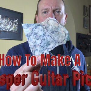 Lapidary 101 - How To polish Jasper / Agate Guitar Picks