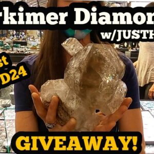 Herkimer Diamonds with JustHerks 22nd st Show Tucson Gem show 2021 GIVEAWAY!