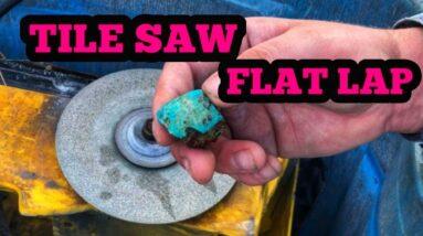Tile Saw Flat Lap Lapidary ( DIY Lapidary Grinder )