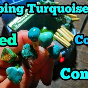 Using a Dop Pot for Turquoise Lapidary Fun