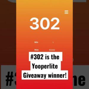 Yooperlite giveaway winner!