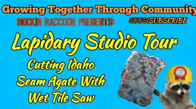 New Lapidary Studio and Cutting Rocks with a Wet Tile Saw