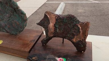 Michigan Copper, Stabilized Mammoth Ivory, & Nephrite Jade @ Miners Co op Tucson Gem Show 2021
