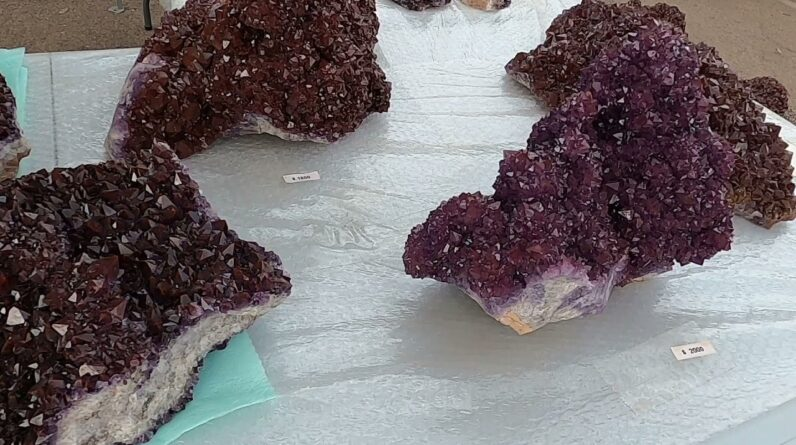 Thunder Bay Amethyst @ the miners Co op Tucson Gem show 2021
