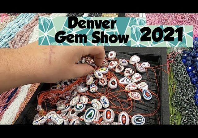 Fordite Beads, Fluorite w/Pyrite, Crystal Skulls Denver Gem & Mineral Show 2021